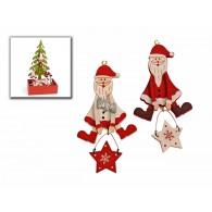 kerst hangers in display kerstman 2 assortiment kleur op=op