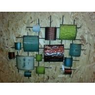 muurdecoratie Gebo metaal 64x75 cm op=op