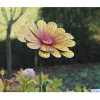 tuinsteker bloem geel hoog 1.75 meter rond 45 cm op=op