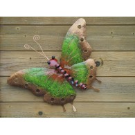 muurdecoratie vlinder groen 49 cm