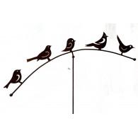 balans 5 vogels roest breed 100 cm