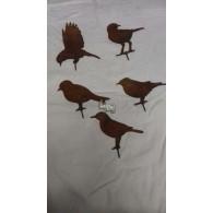 vogel schroefbaar set van 5 stuks