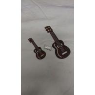 hanger gitaar set van 2 stuks roest