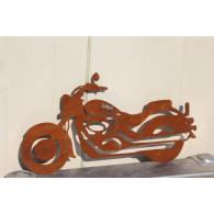 muurdecoratie motorfiets hoog 27 cm roest