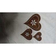 hanger hart set van 3 stuks roest