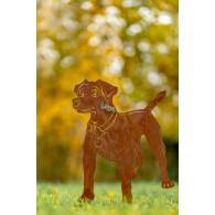 steker hond jackrussel roest
