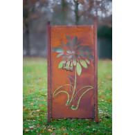 tuin verdeel/decoratie scherm metaal roest bloem
