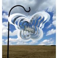 windspinner rvs vlinder 32x24 cm