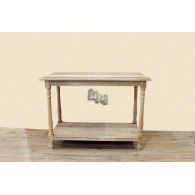 tafel hout 122.5x60.5x90xcm natuur gewit