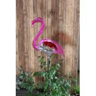 steker flamingo zilver roze 37x134 cm