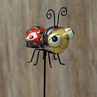 steker lieveheersbeestje rood hoog 79 cm