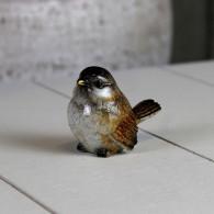 vogel polystone bruin 5 cm