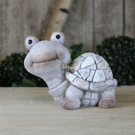 schildpad polystone steen optiek 18 cm