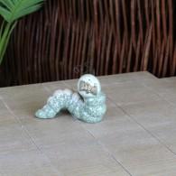 rups 12.5 cm keramiek groen/beige