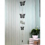 hanger vlinder (3x) metaal 118 cm lang zilver op=op