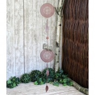 hanger zon metaal 108 cm lang roest kleur op=op
