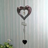hanger hart metaal 60 cm lang zilver