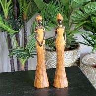 africa figuren dame bruin 2 assortiment design polystone