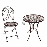 set stoelen (2x) en tafel donker bruin