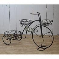 fiets om te beplanten Garda metaal donker bruin breed 73 cm