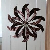 windmolen dubbel bloem donker bruin hoog 170 cm