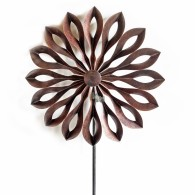 windmolen enkel bloem donker bruin