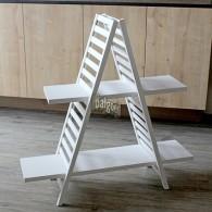 kast met 2 planken wit hoog 94 cm