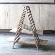 ladder met 2 planken natuur gewit hoog 94 cm