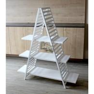 ladder met 3 planken wit hoog 140 cm