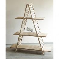 ladder met 3 planken natuur gewit hoog 140 cm