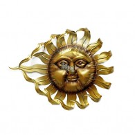 muurdecoratie zon goudkleurig 65 cm breed