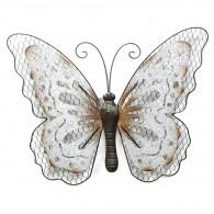 muurdecoratie vlinder 58x46 cm donker bruin