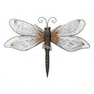 muurdecoratie libelle donker bruin 59 cm breed