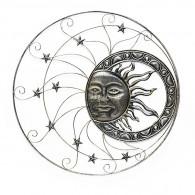 muurdecoratie zon in cirkel rond 90 cm