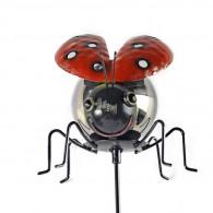 steker lieveheersbeestje rood hoog 91 cm