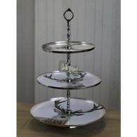 tafel etagère metaal met 3 borden herten design
