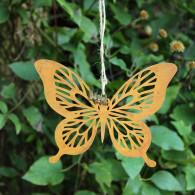 hanger vlinder metaal 17x12 cm roest