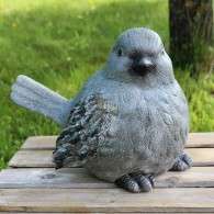magnesium vogel zittend steenoptiek breed 37 cm