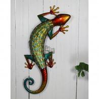muurdecoratie gekko hoog 70.5cm bont