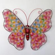 muurdecoratie vlinder breed 56 cm roze