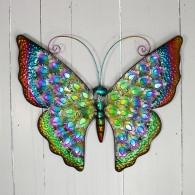 muurdecoratie vlinder breed 55.5cm extra bont