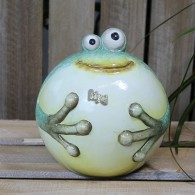kikker kogelvorm 14 cm keramiek