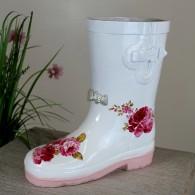 laars rubber wit roze om te beplanten hoog 25 cm