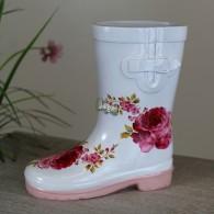 laars rubber wit roze om te beplanten hoog 18 cm