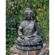 magnesium boeddha zittend steenoptiek hoog 59.5 cm