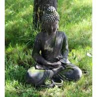 magnesium boeddha zittend steenoptiek hoog 49.5 cm