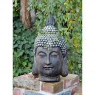 magnesium boeddha kop steenoptiek hoog 53.5 cm