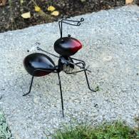 mier staande 20 cm metaal zwart