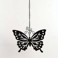 hanger vlinder metaal 48 cm lang roest