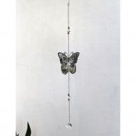 hanger vlinder metaal 66 cm lang zilver